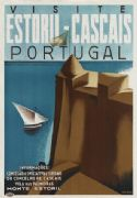 Vintage Travel Poster Estoril & Cascais Portugal